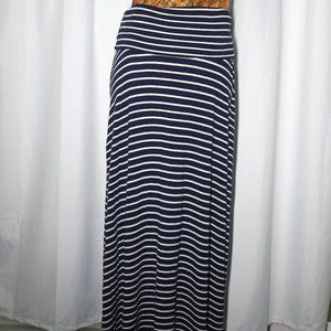 Navy and White Striped 2 in 1 Dress/Skirt